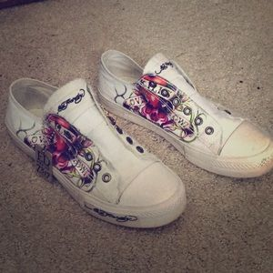 Sale Ed Hardy Converse Sneakers